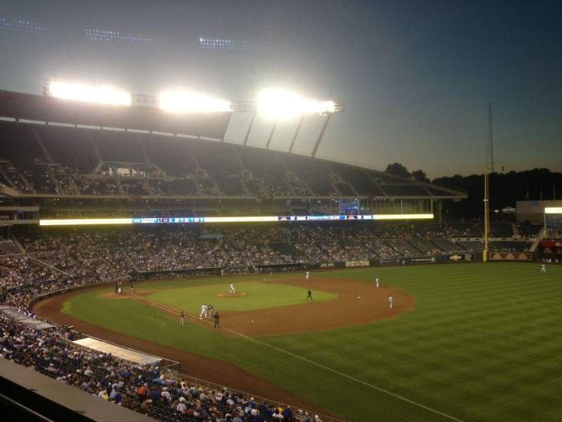 Seating view for Kauffman Stadium Section 324 Row A Seat 10