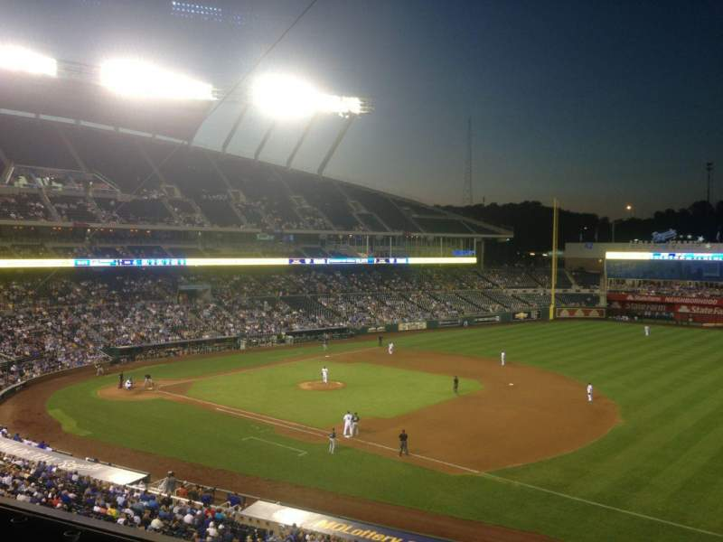 Seating view for Kauffman Stadium Section 320 Row E Seat 19
