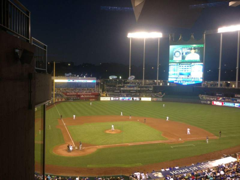 Seating view for Kauffman Stadium Section 312 Row G Seat 1