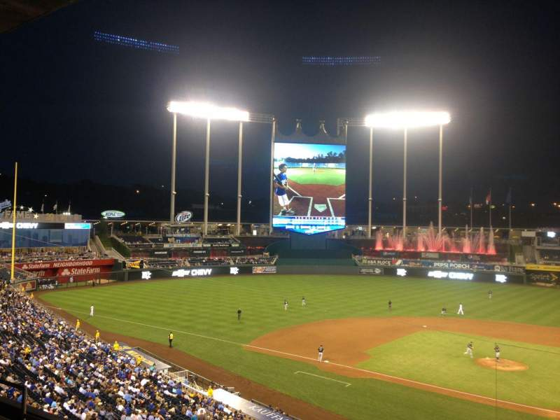 Seating view for Kauffman Stadium Section 311 Row E Seat 12