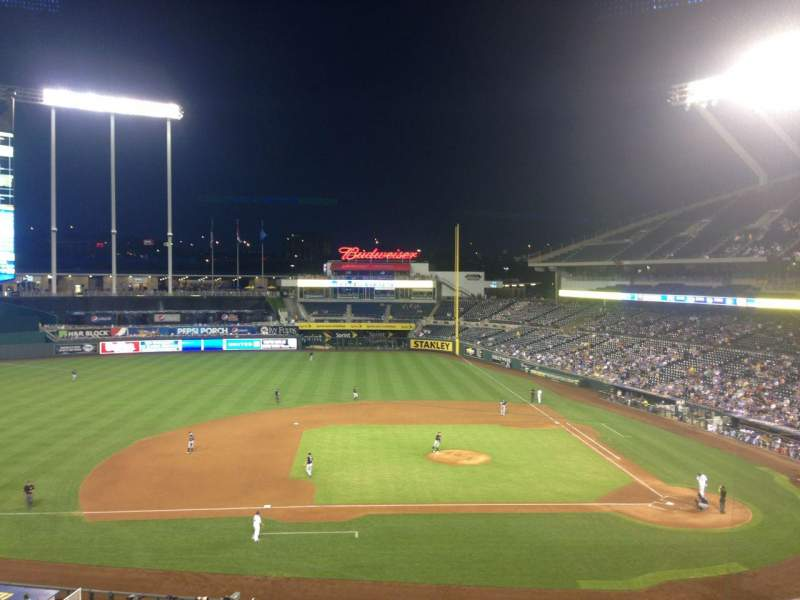 Seating view for Kauffman Stadium Section 308 Row F Seat 9