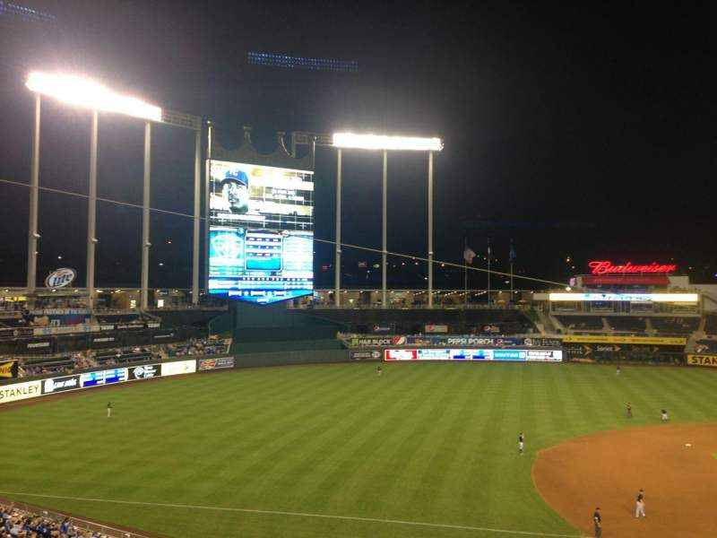 Seating view for Kauffman Stadium Section 304 Row C Seat 17