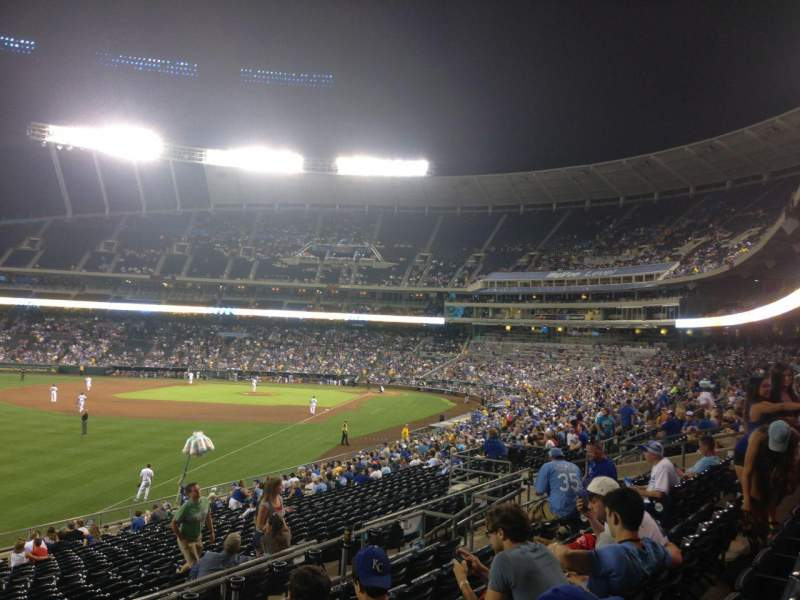 Seating view for Kauffman Stadium Section 208 Row FF Seat 25