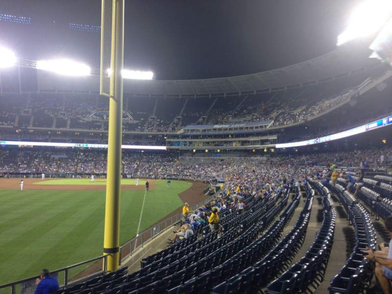 Seating view for Kauffman Stadium Section 107 Row U Seat 15