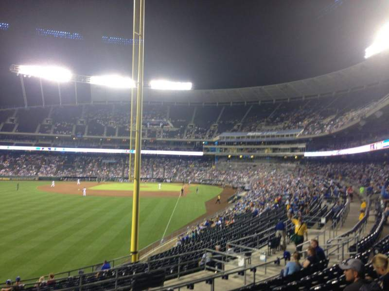 Seating view for Kauffman Stadium Section 206 Row HH Seat 11
