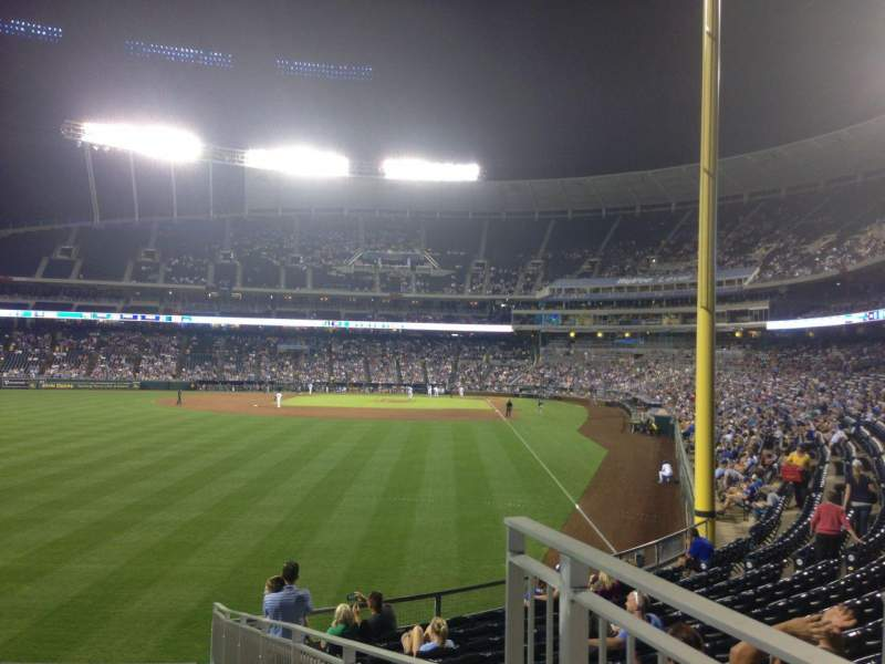 Seating view for Kauffman Stadium Section 106 Row C Seat 12