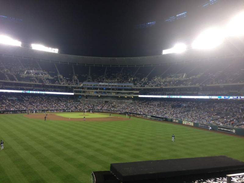 Seating view for Kauffman Stadium Section 201 Row D Seat 18