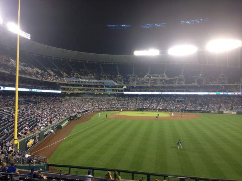 Seating view for Kauffman Stadium Section 251 Row LL Seat 17