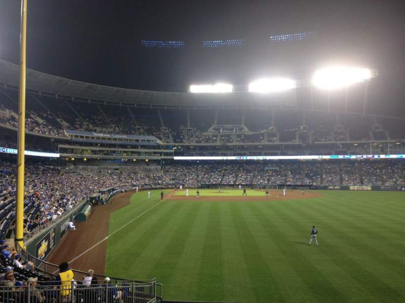 Seating view for Kauffman Stadium Section 250 Row AA Seat 14