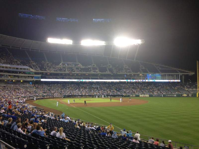 Seating view for Kauffman Stadium Section 246 Row AA Seat 10