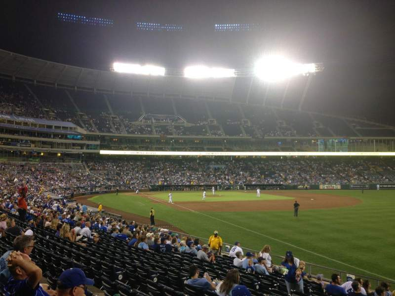 Seating view for Kauffman Stadium Section 144 Row U Seat 12