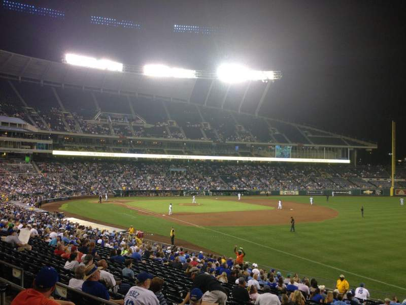 Seating view for Kauffman Stadium Section 243 Row CC Seat 12