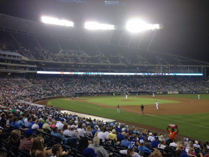 Seating view for Kauffman Stadium Section 141 Row X Seat 10