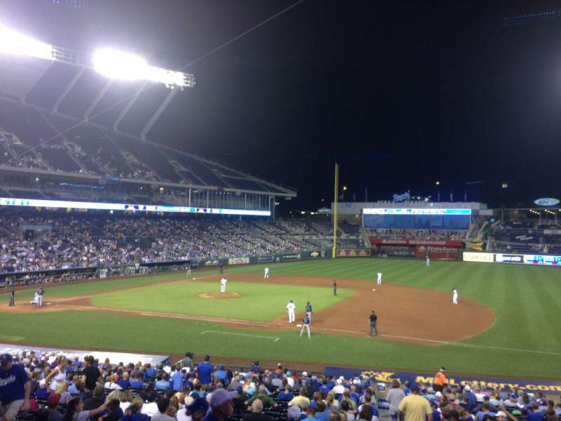 Seating view for Kauffman Stadium Section 237 Row FF Seat 11