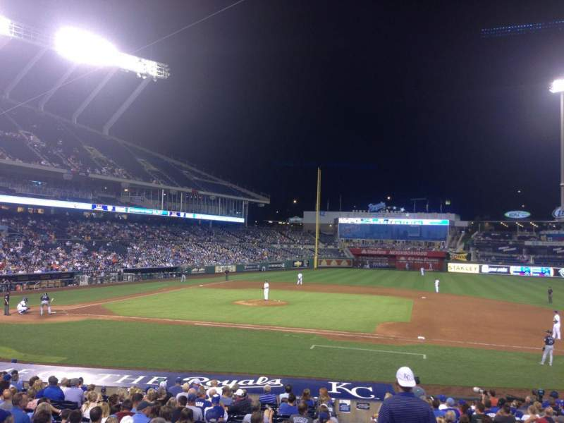 Seating view for Kauffman Stadium Section 135 Row V Seat 10