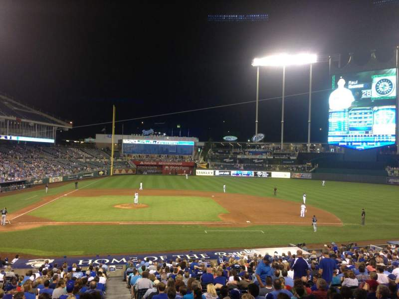 Seating view for Kauffman Stadium Section 232 Row CC Seat 22