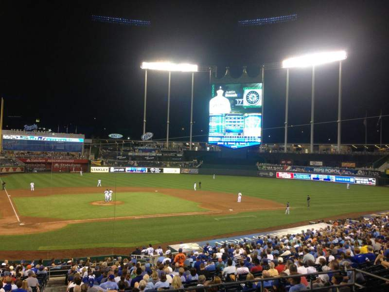 Seating view for Kauffman Stadium Section 230 Row DD Seat 15
