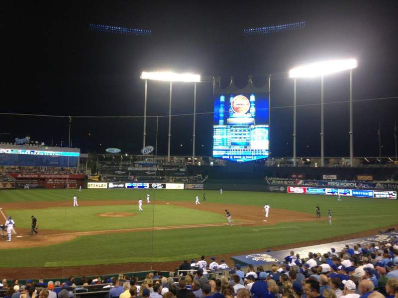 Seating view for Kauffman Stadium Section 130 Row U Seat 10