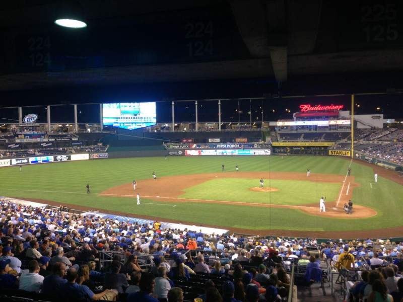 Seating view for Kauffman Stadium Section 225 Row RR Seat 11
