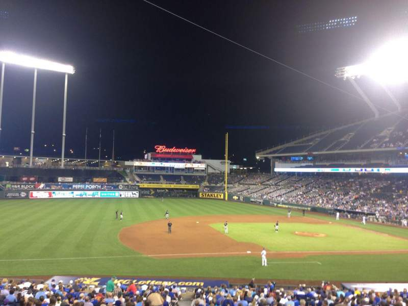 Seating view for Kauffman Stadium Section 218 Row HH Seat 1