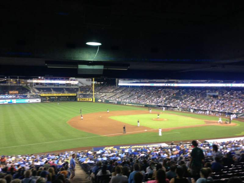 Seating view for Kauffman Stadium Section 215 Row TT Seat 13