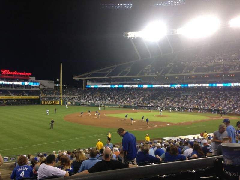 Seating view for Kauffman Stadium Section 214 Row BB Seat 1