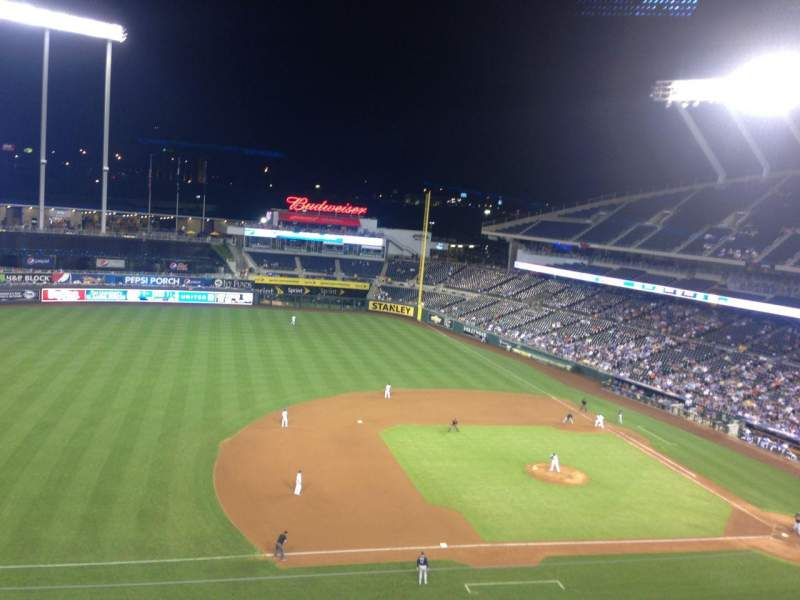 Seating view for Kauffman Stadium Section 409 Row F Seat 7