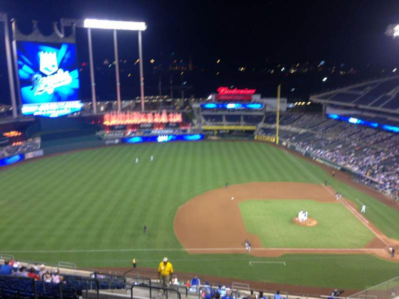 Seating view for Kauffman Stadium Section 411 Row LL Seat 10
