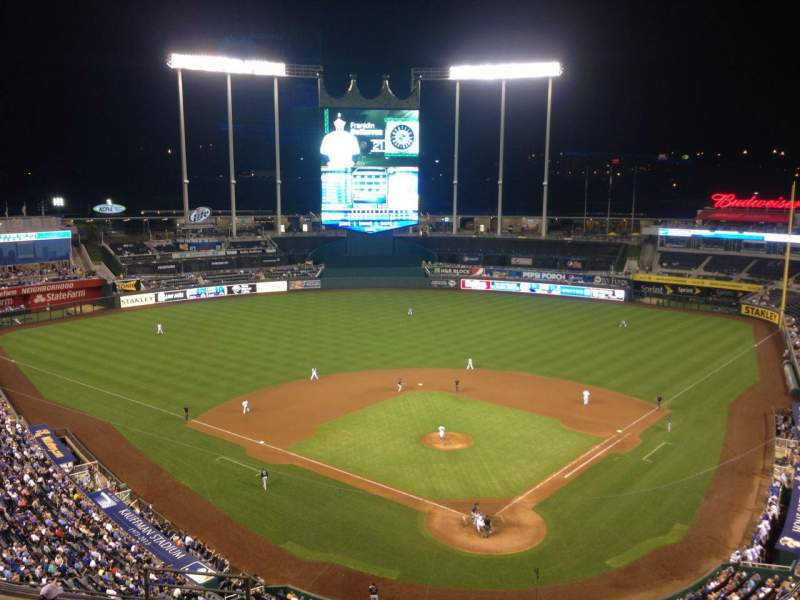 Seating view for Kauffman Stadium Section 419 Row T Seat 10
