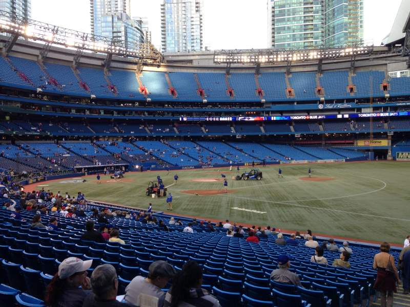 Seating view for Rogers Centre Section 113 Row 28 Seat 1