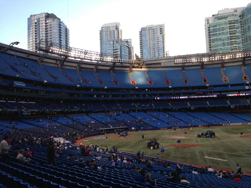 Seating view for Rogers Centre Section 114L Row 17 Seat 109
