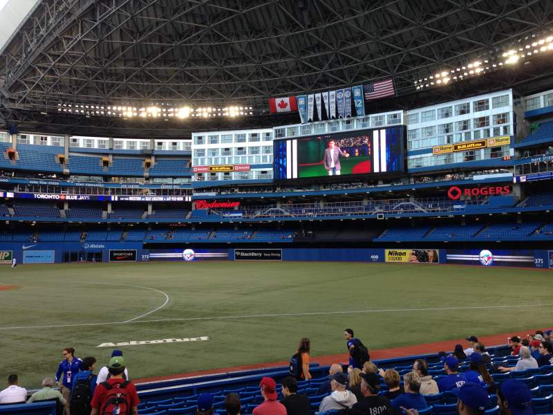 Seating view for Rogers Centre Section 116L Row 15 Seat 109