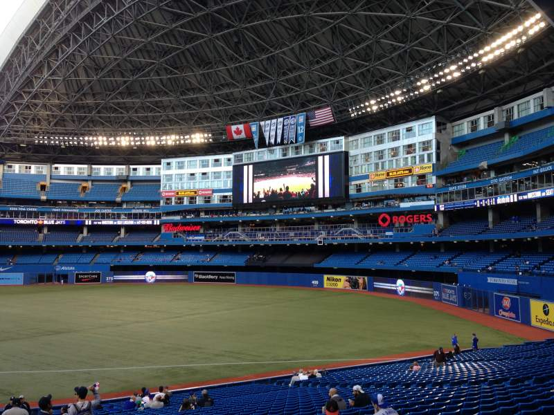 Seating view for Rogers Centre Section 113AL Row 32 Seat 101