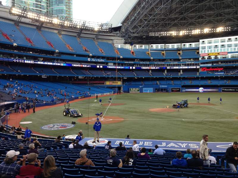 Seating view for Rogers Centre Section 118L Row 26 Seat 107