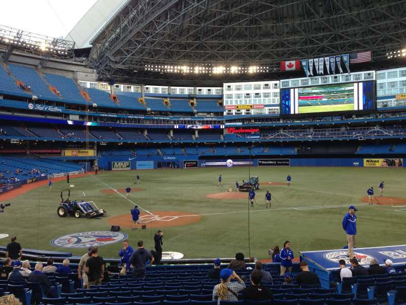 Seating view for Rogers Centre Section 119R Row 21 Seat 8