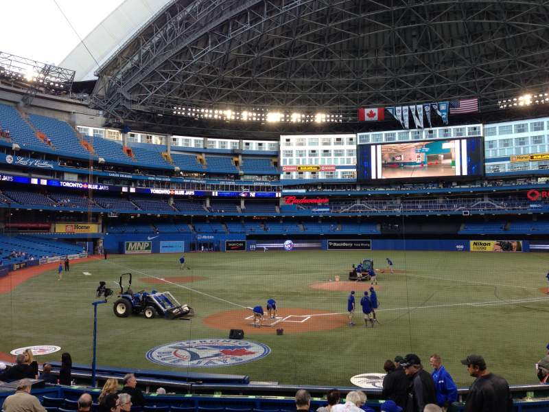 Seating view for Rogers Centre Section 121L Row 17 Seat 105
