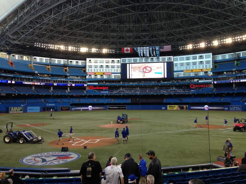 Seating view for Rogers Centre Section 121 Row 16 Seat 104