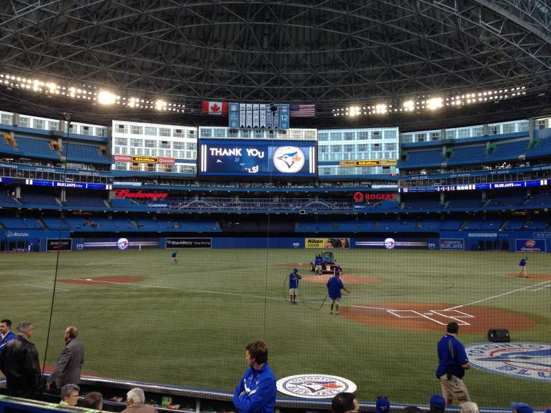 Seating view for Rogers Centre Section 123 Row 11 Seat 2