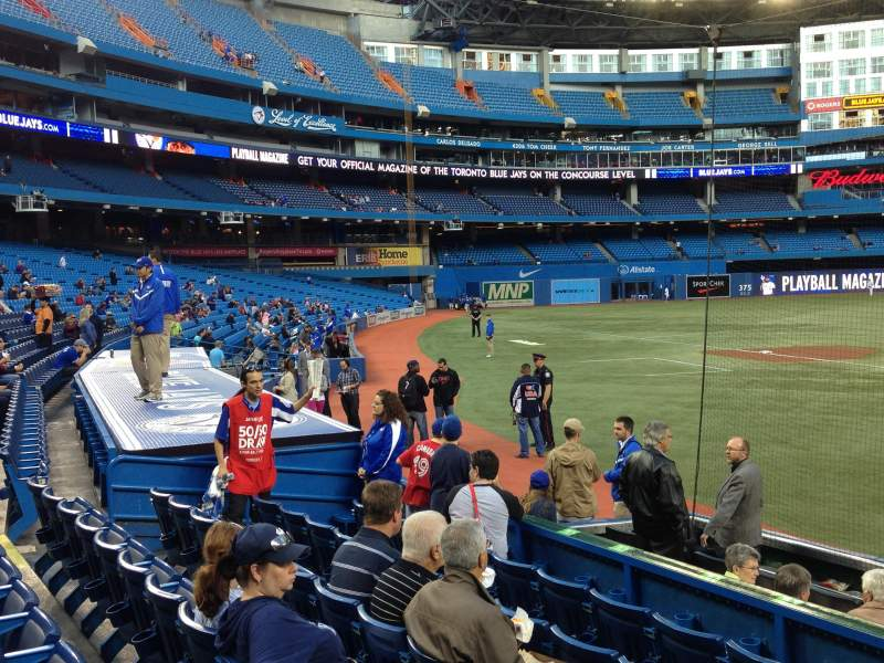 Seating view for Rogers Centre Section 123R Row 11 Seat 2