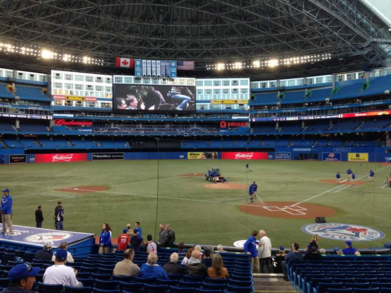 Seating view for Rogers Centre Section 123L Row 21 Seat 101