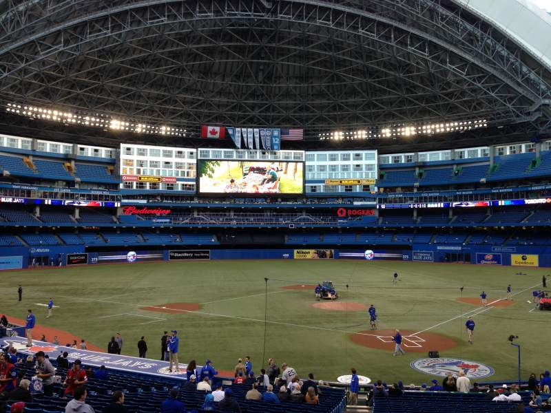Seating view for Rogers Centre Section 122R Row 33 Seat 2