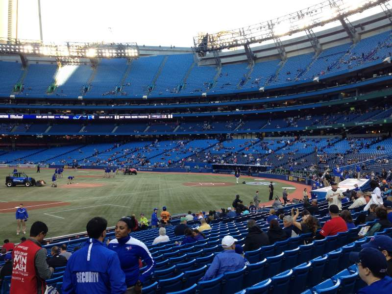 Seating view for Rogers Centre Section 128L Row 24 Seat 104