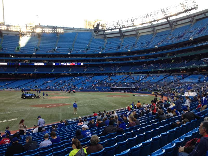 Seating view for Rogers Centre Section 129 Row 19 Seat 104