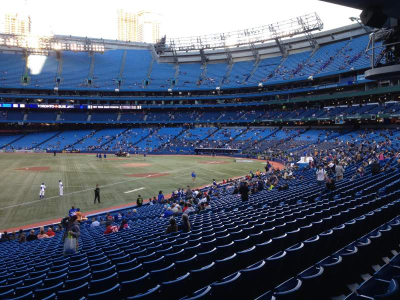 Seating view for Rogers Centre Section 130CL Row 33 Seat 101