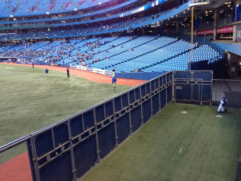 Seating view for Rogers Centre Section 137 Row 1 Seat 101