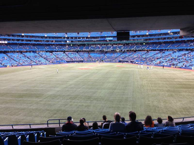 Seating view for Rogers Centre Section 141L Row 12 Seat 101