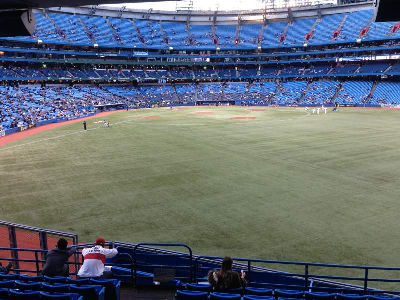 Seating view for Rogers Centre Section 105R Row 10 Seat 2