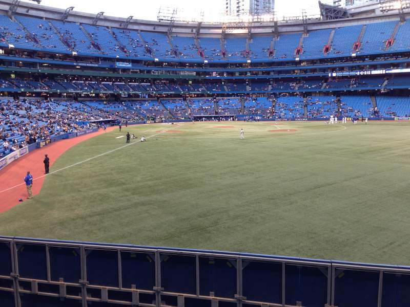 Seating view for Rogers Centre Section 107 Row 1 Seat 101