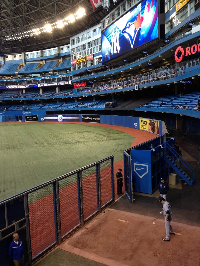 Seating view for Rogers Centre Section 107L Row 1 Seat 101