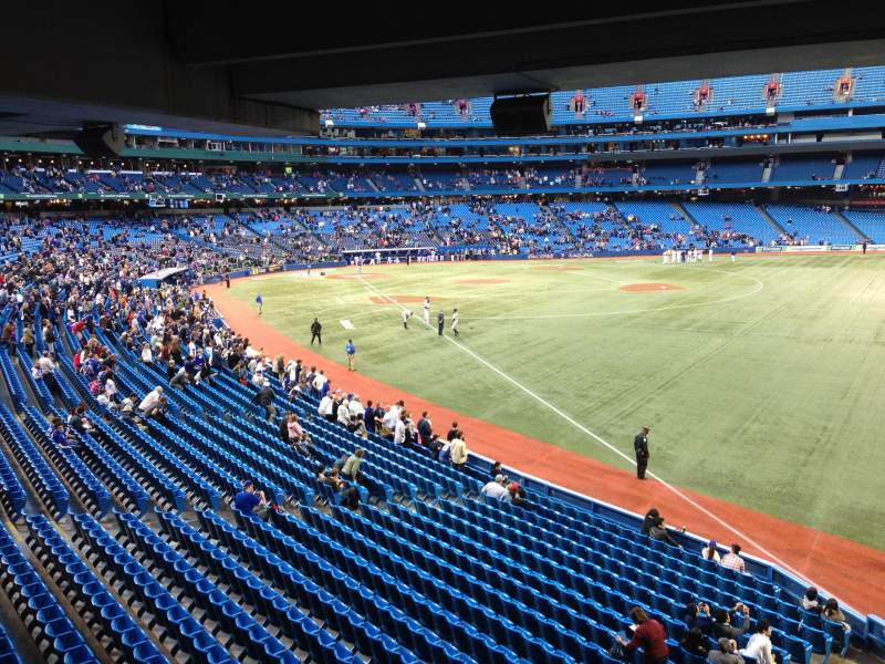 Seating view for Rogers Centre Section 110 Row SRO Seat Standing R